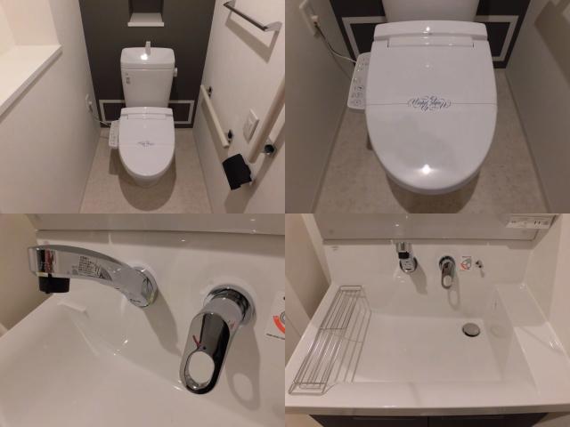 ワンルームマンションのトイレと洗面台