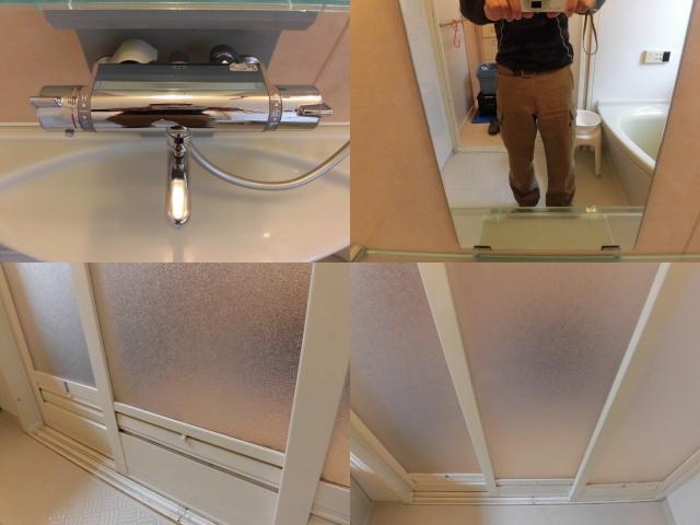 浴室の扉のクリーニング