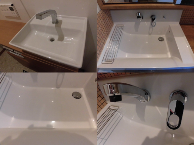 洗面化粧台のクリーニング