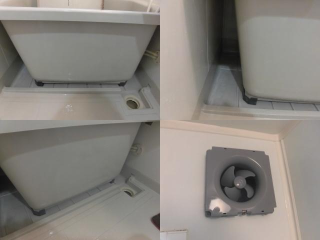 浴室エプロン内部のクリーニング