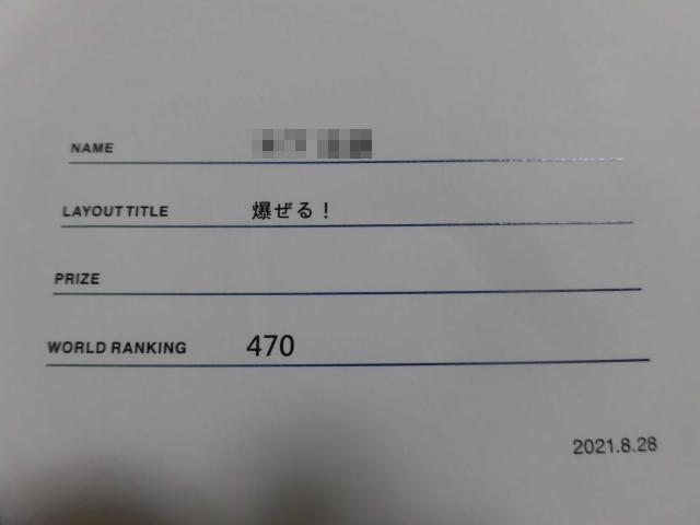 APLC 2021 世界ランキング 470位